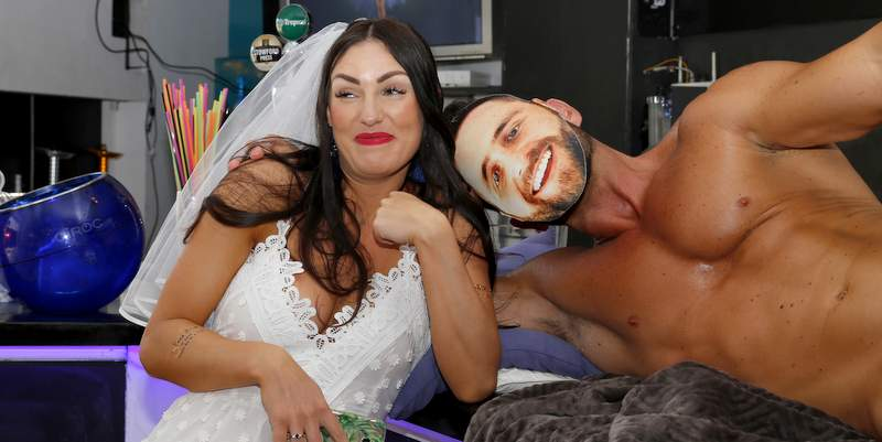 Bride to be with her very own naked male model