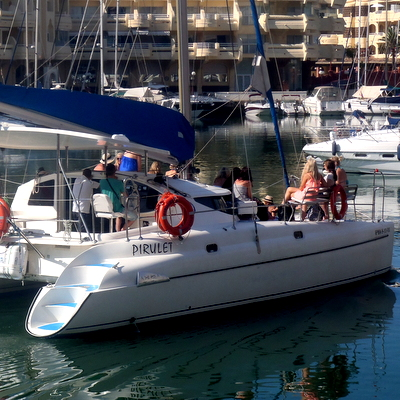 Benalmadena puerto catamaran sea boat and dolphin tours in Spain