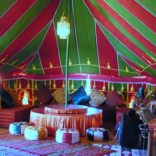 Moroccan tent for a completely chill out afternoon, evening with Hen Weekend Marbella