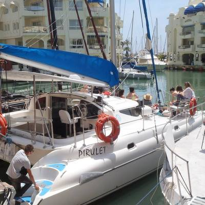 Catamaran Dolphin guides boat tours for hen Weekends in Marbella