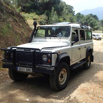 4x4 jeep on a hen weekend Marbella Guided safari tour