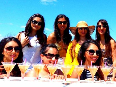 Enjoy a cocktail in Marbella with your hen party catamaran.