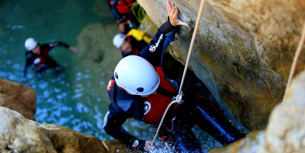 Canyoning ideas for hens in Marbella