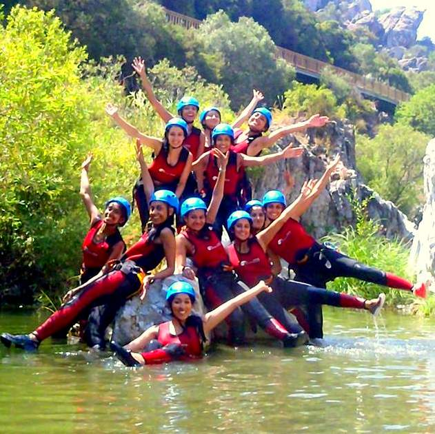Canyoning with one of our hen parties