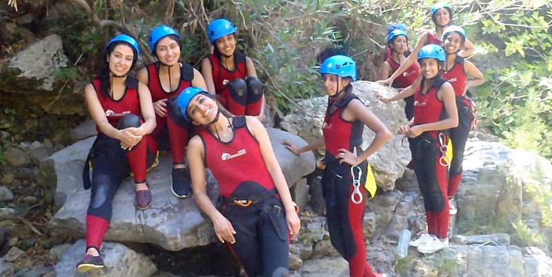 Marbella in Spain is a great place to go canyoning