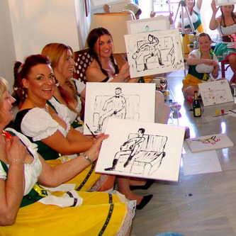 Life Drawing Classes with Hen Weekend Marbella