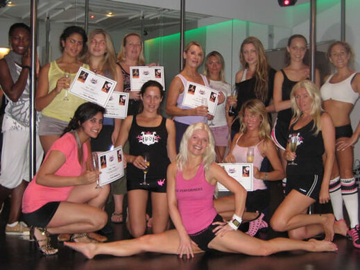 Dancing on the pole in Marbella with Hen Weekend Marbella Days out